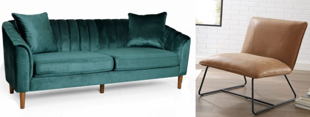 green velvet sofa midcentury and midcentury modern style camel caramel leather accent chair