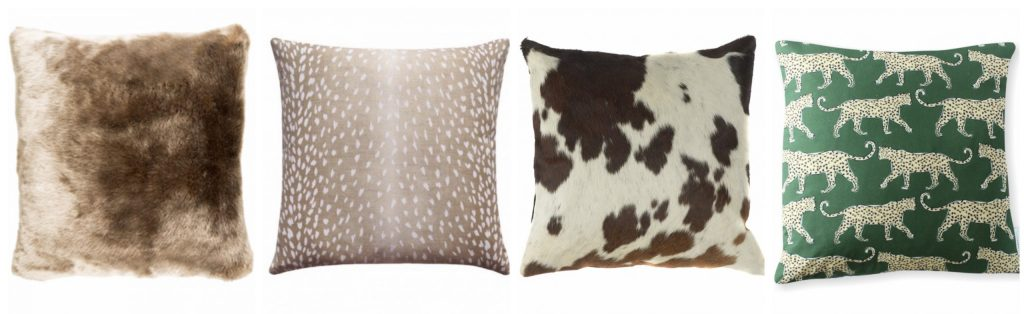 animal themed pillows mix and match