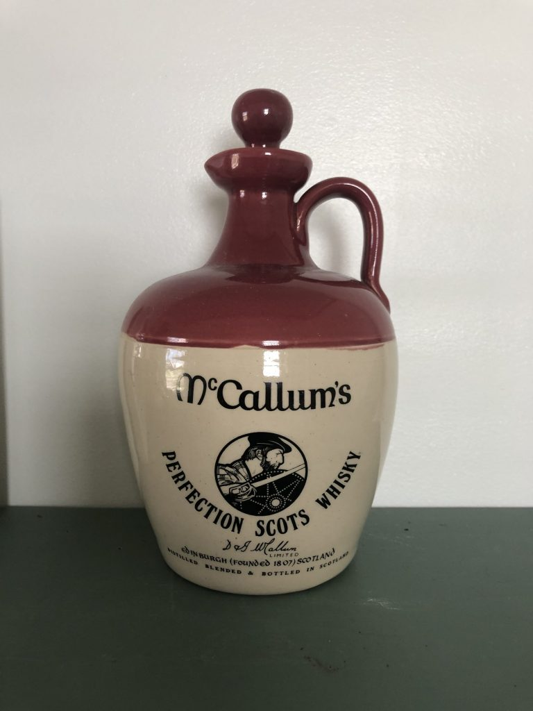vintage mccallums whisky bottle