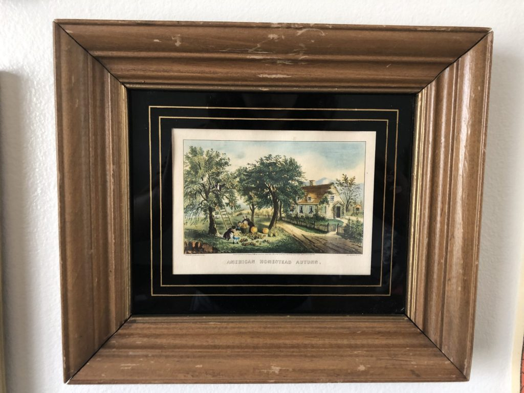 vintage wood picture frame thrift store