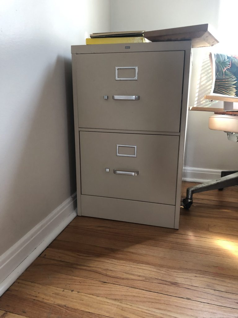 thrifted file cabinet