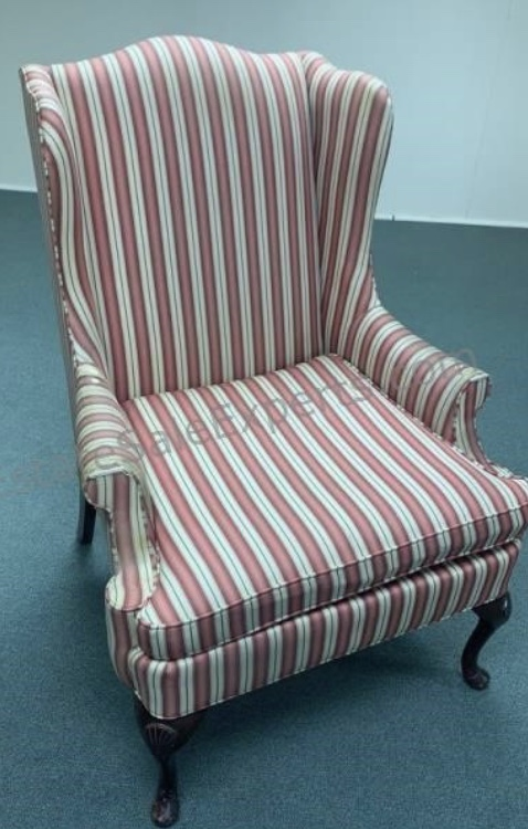 vintage striped armchair thrift