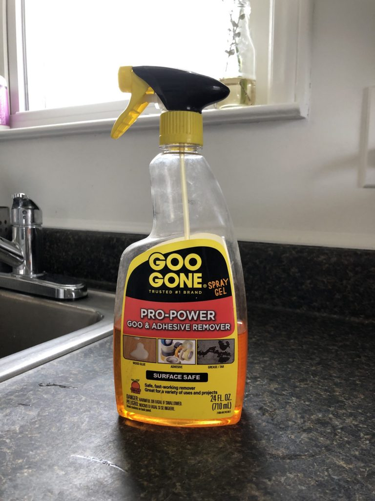 goo gone to get out sticky residue