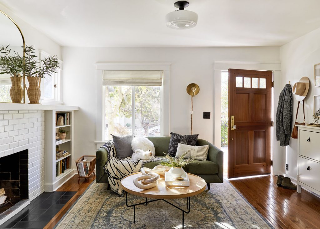 bright living room simple small home white walls